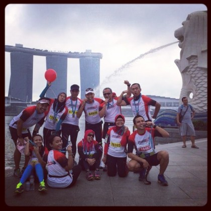 Pertamina Runners g to Singapore