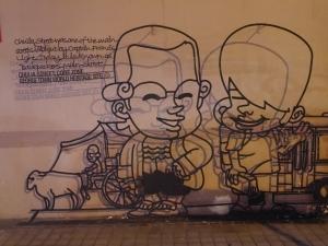 Salah satu street art