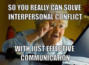 Communication Grandma meme