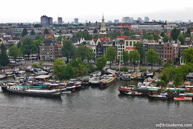 Amsterdam from Rooftop
