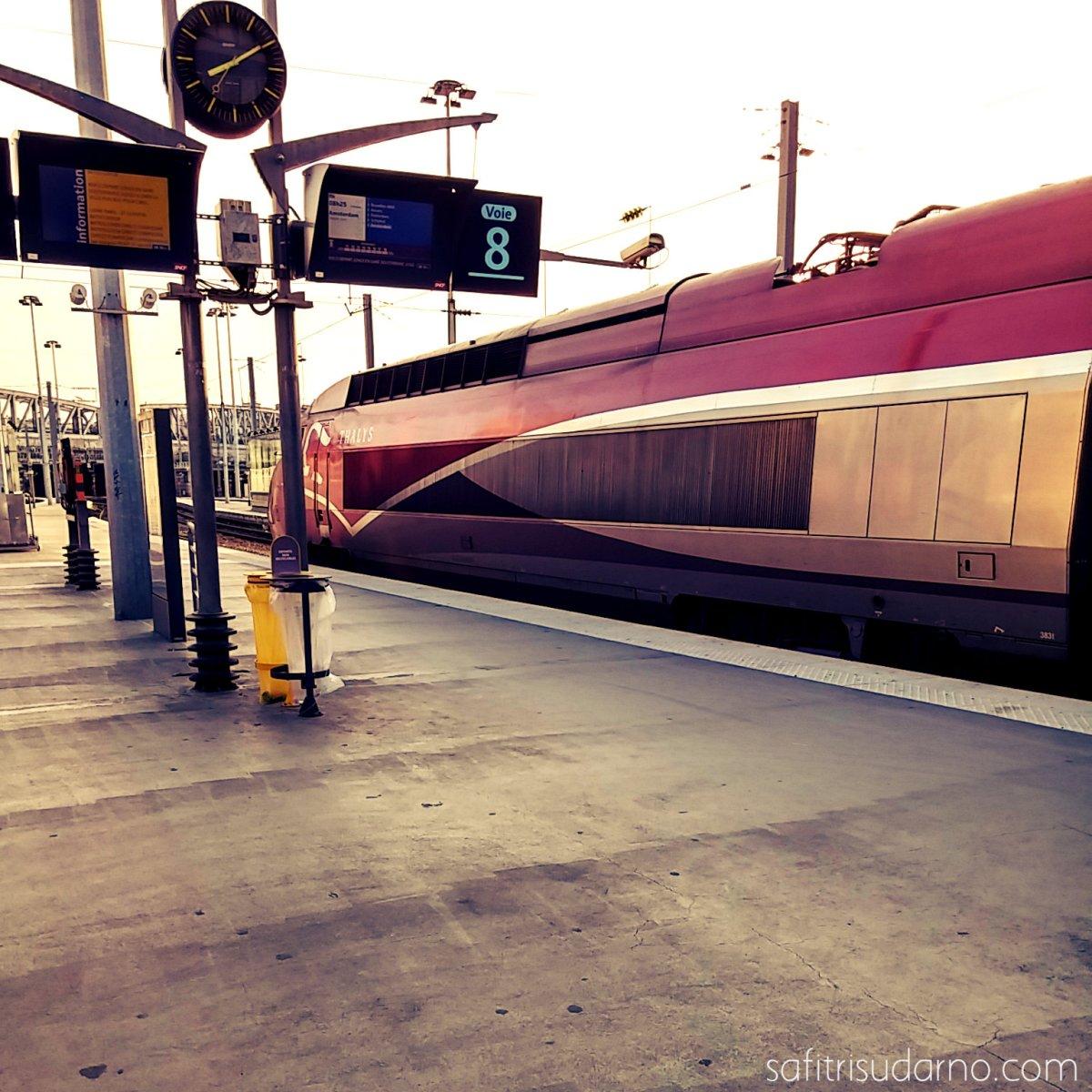 Thalys train in Paris