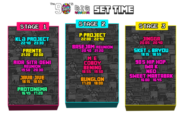 Rundown The 90s Festival