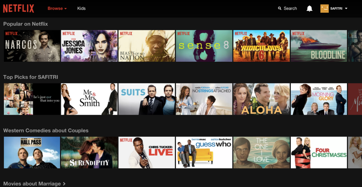 what netflix chose for me