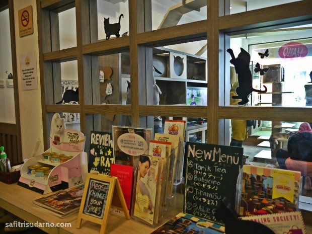 pintu masuk cutie cats cafe