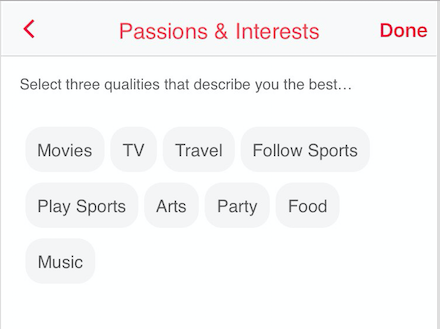 passions and interests